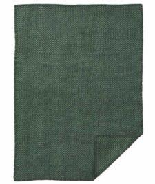Ledikantdeken wol groen Domino