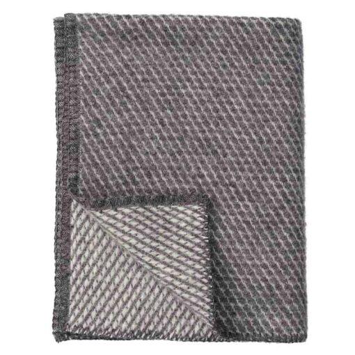 Ledikantdeken wol grijs Velvet