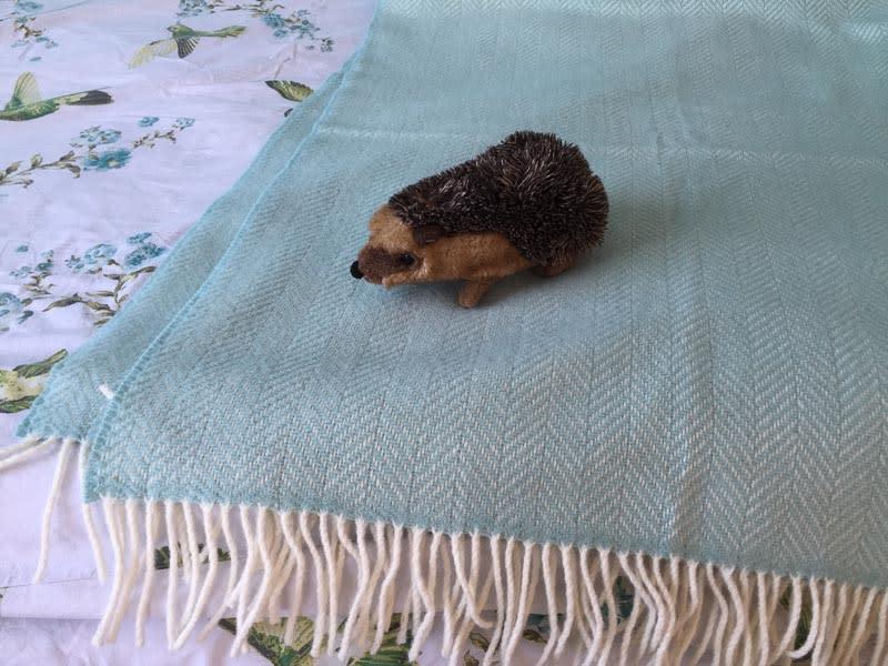 mintgroene plaid cashmere