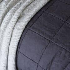 sprei linnen katoen nice off black zwart