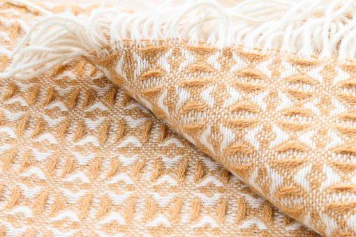 okergele plaid wol tweedmill