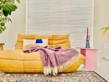 paarse plaid visgraat wol