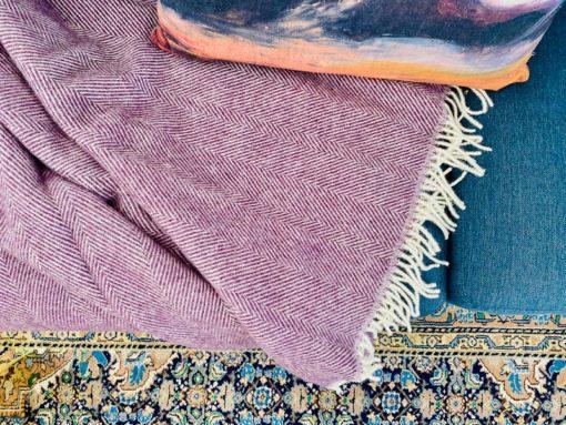 paarse plaid wol