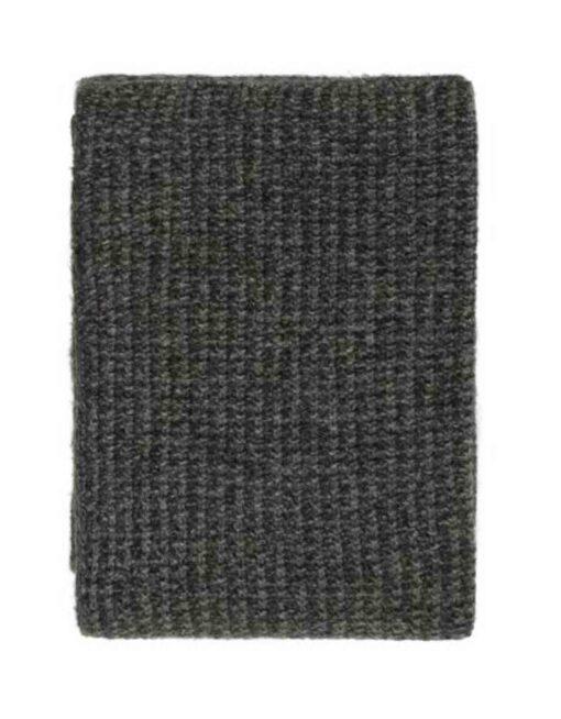 plaid antraciet gebreid grijs