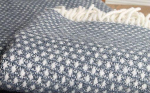 plaid blauwgrijs blauw klippan wol