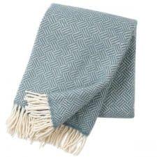 plaid blauw visgraat wol klippan samba