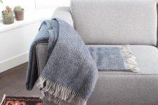 plaid blauw visgraat wol