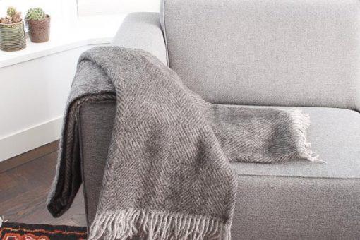 plaid bruin wol visgraat