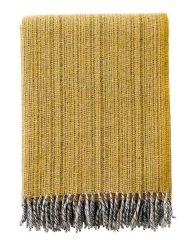 plaid geel lamswol gemêleerd klippan bjork