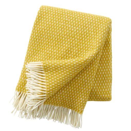 plaid geel lamswol klippan knut