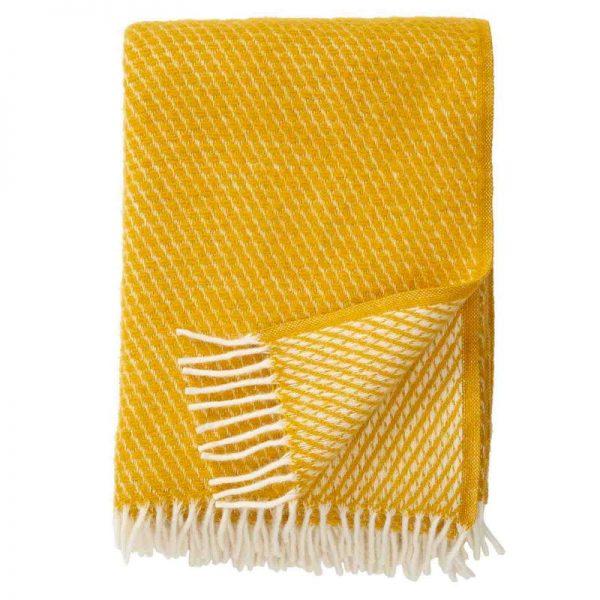 Plaid lamswol Velvet: geel