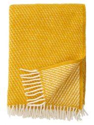plaid geel saffron klippan lamswol velvet