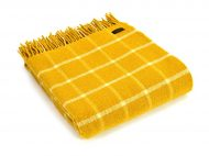 Plaid wol: geel