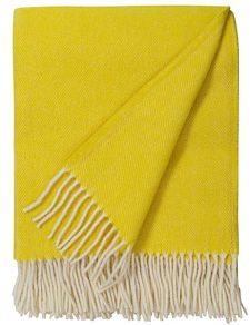 plaid geel wol