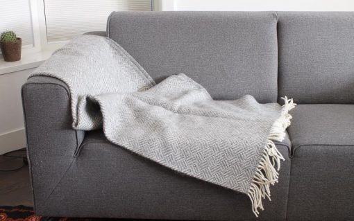 plaid grijs klippan wol