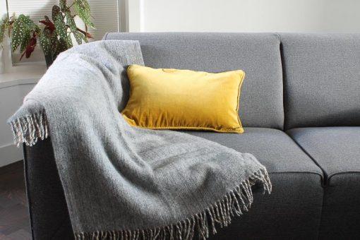 plaid grijs wol