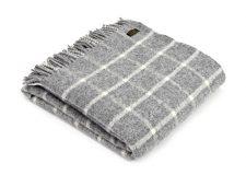 Plaid wol: grijs