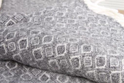 grijze plaid wol klippan lamswol