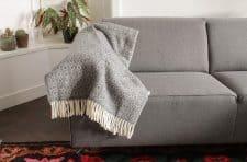 plaid grijs wol klippan lamswol