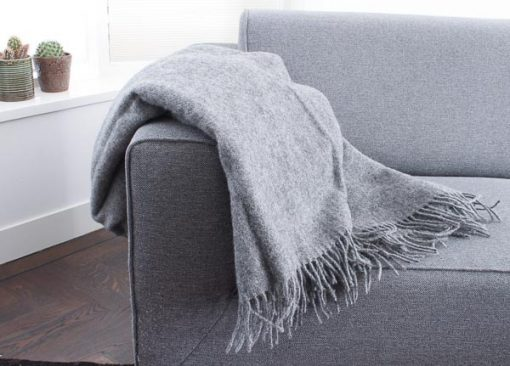 plaid grijs wol silkeborg