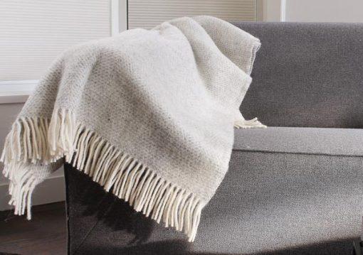 plaid grijs wol tweedmill beehive