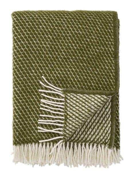 plaid groen lamswol klippan velvet