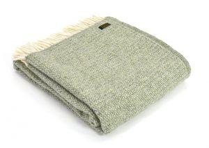 Plaid wol: groen
