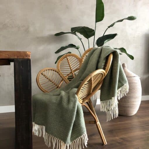 plaid groen grijs wol tweedmill