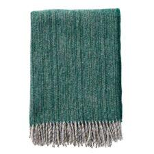 plaid groen lamswol klippan gemeleerd