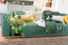 plaid groen donkergroen wol klippan