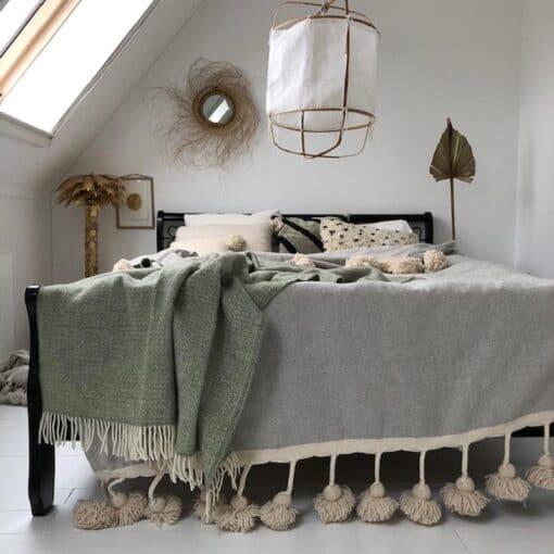 plaid groen wol grijs tweedmill