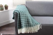 plaid groen wol wit tweedmill