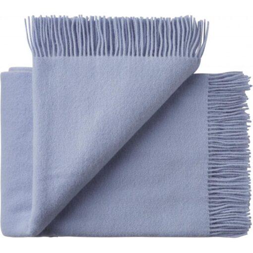 plaid lichtblauw wol silkeborg uldspinderi