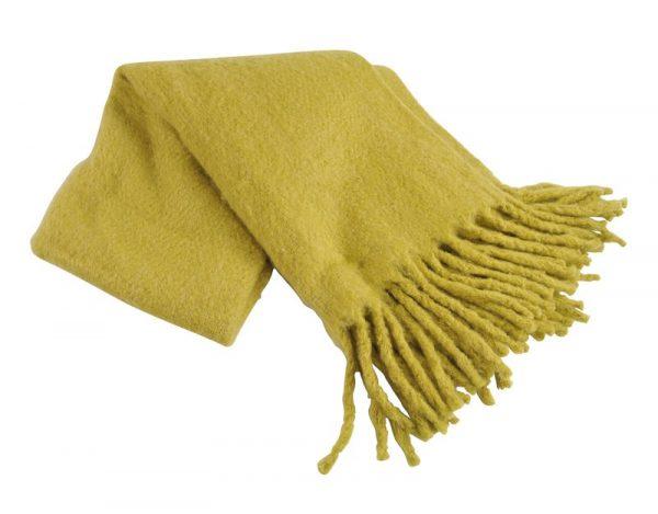 Plaid geel Mosterd