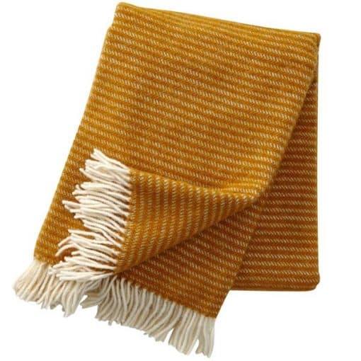plaid mosterd geel okergeel lamswol klippan ralph