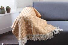 plaid okergeel wol tweedmill cobweave