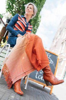 plaid oranje alpacawol