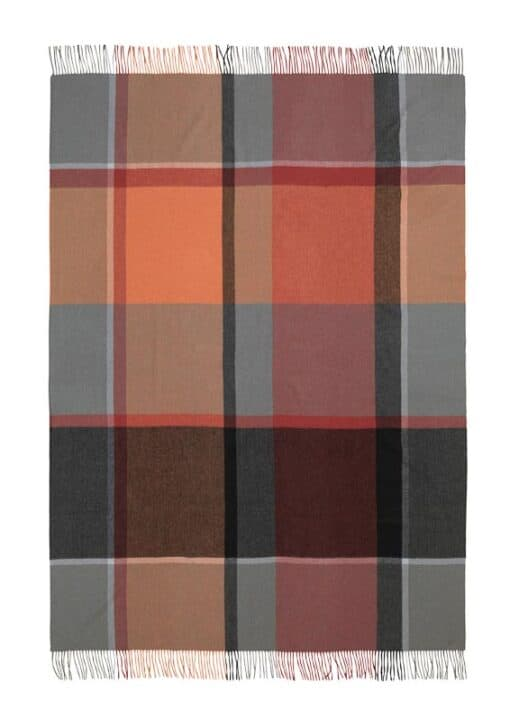 plaid oranje grijs rood ruiten