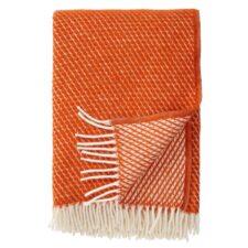 plaid oranje lamswol klippan velvet