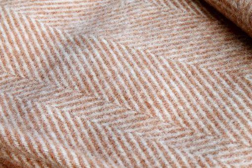plaid oranje visgraat wol
