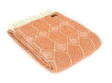 Plaid wol: oranje