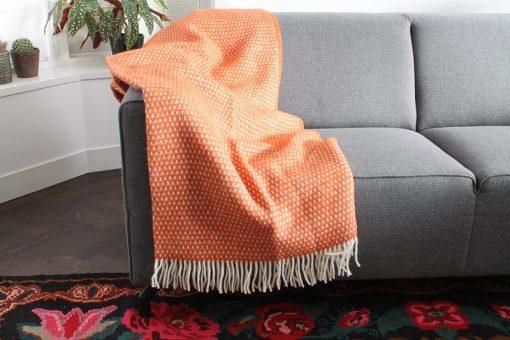 plaid oranje wollen klippan