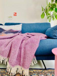 plaid paars silkeborg wol