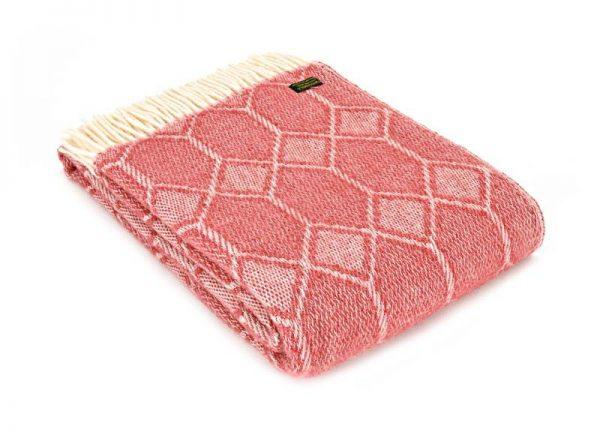 Plaid wol: rood