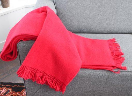 plaid rood wol effen