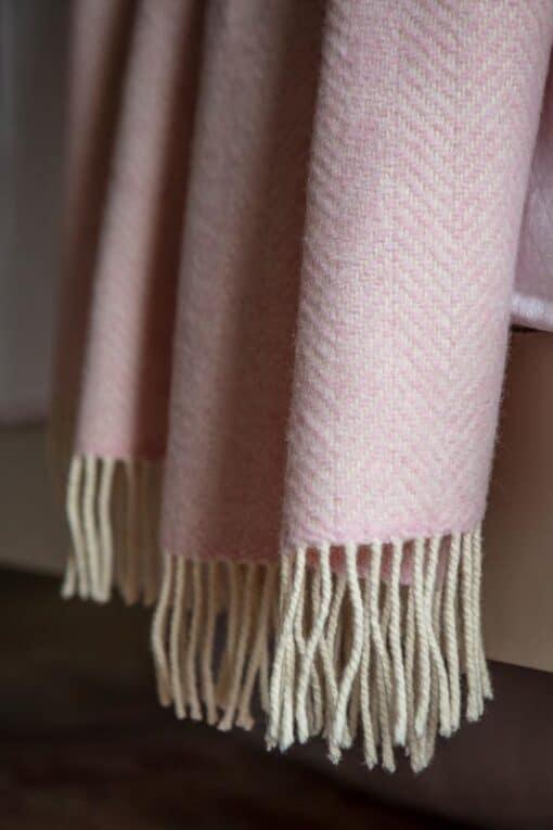 'plaid roze cashmere visgraat