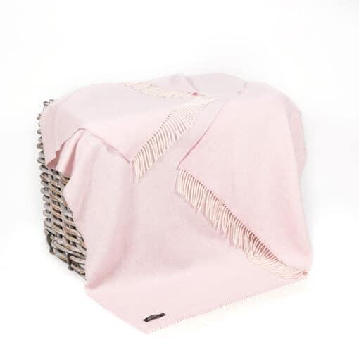 plaid roze cashmere wol visgraat john hanly