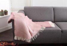 plaid roze lamswol klippan
