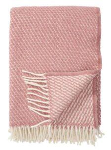 plaid roze lamswol klippan velvet