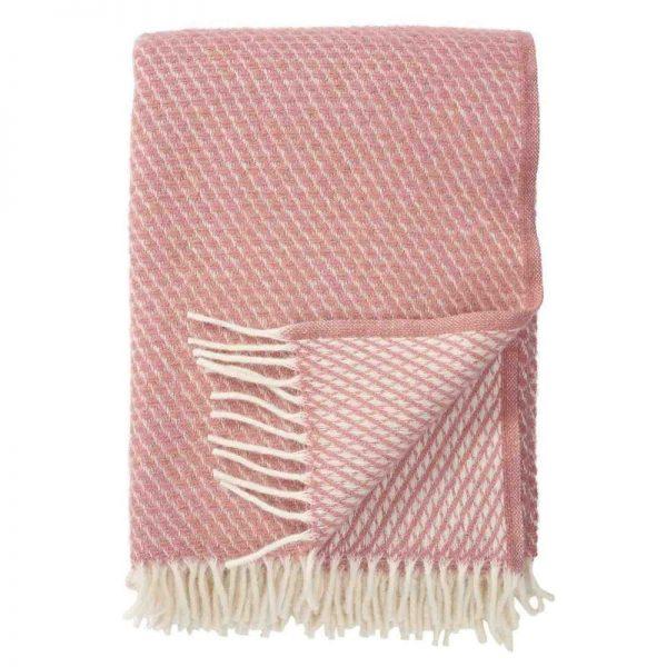 Plaid lamswol Velvet: roze